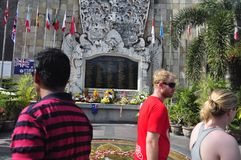 Maalde Nul Monument Bali stock afbeelding