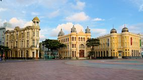 Maalde Nul van Recife, Pernambuco, Brazilië Royalty-vrije Stock Afbeelding