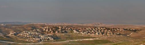 Maale Adumim - 10 February 2017: Maale Adumim settlement, aerial stock image