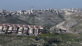 Maale Adumim settlement Israel stock footage