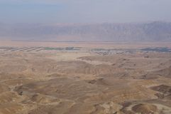 Maale Shaharut在Arava沙漠 图库摄影