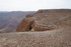 Maale Shaharut dans le désert d'Arava Image stock