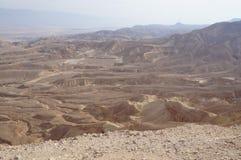 Maale Shaharut i den Arava öknen Arkivbilder