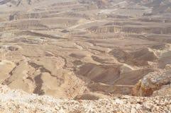 Maale Shaharut nel deserto di Arava Immagini Stock