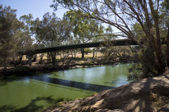 Maali Bridge view across Swan River in Western Australia Swan Valley wine region Stock Image