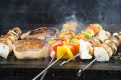 Maaltijd 1 van de barbecue Stock Foto
