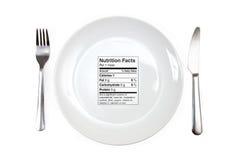 Maaltijd met 0 calorieën Royalty-vrije Stock Foto's