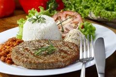 Maaltijd met hamburguer Stock Foto's