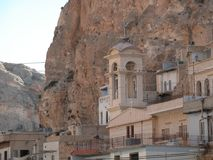 Maalula, Syria, Monastery and Christian village. Damascus, 2004 Royalty Free Stock Photo