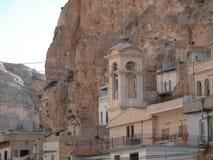 Maalula, Syrien, kloster- och kristenby Damascus 2004 royaltyfri foto