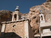 Maalula, Syrien, kloster- och kristenby Damascus 2004 royaltyfri bild