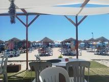 Maamoura strand Tunisien royaltyfria foton