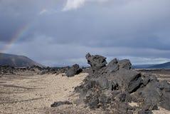Maan als het landschap van IJsland Royalty-vrije Stock Afbeeldingen