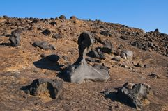 Maan als woestijnlandschap Stock Fotografie