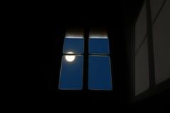 Maan bij het venster Royalty-vrije Stock Fotografie