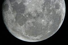 Maan bij nacht Royalty-vrije Stock Afbeeldingen