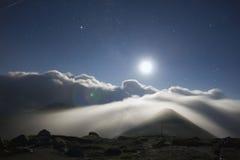 Maan bij nacht Royalty-vrije Stock Fotografie