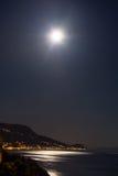 Maan boven Spleet, Kroatië Royalty-vrije Stock Fotografie