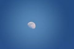 Maan in de donkerblauwe hemel Royalty-vrije Stock Afbeeldingen