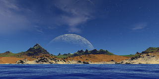 Maan in de hemel Royalty-vrije Stock Foto's