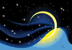 Maan in de hemel Royalty-vrije Stock Afbeelding
