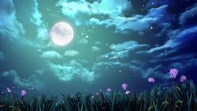 Maan in de nachthemel Royalty-vrije Stock Afbeeldingen
