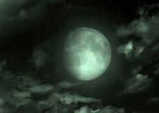 Maan in de nachthemel stock afbeelding