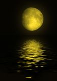 Maan in de nachthemel stock afbeeldingen