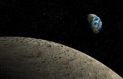 Maan en Aarde Royalty-vrije Stock Fotografie