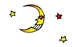 Maan en sterren Royalty-vrije Stock Afbeeldingen