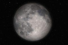 Maan en sterren Stock Afbeelding