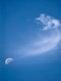 Maan en Wolk stock foto
