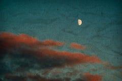 Maan en wolken Royalty-vrije Stock Afbeelding