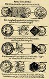 Maan en zon Stock Afbeelding