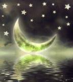 Maan in hemel vector illustratie