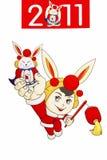 Maan konijnjaar 2011 Stock Afbeelding