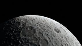 Maan in kosmische ruimte, oppervlakte Hoog - kwaliteit, resolutie, 4k Dit die beeldelementen door NASA worden geleverd stock illustratie