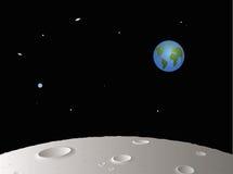 Maan met Verre Aarde royalty-vrije illustratie