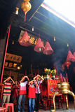 2567 maan nieuwe jaarviering Semarang Stock Foto's