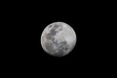 Maan op een zwarte hemel Royalty-vrije Stock Foto