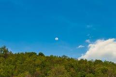 maan op hemel Royalty-vrije Stock Afbeelding