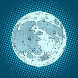 Maan satellietplaneet Stock Afbeelding