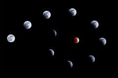 Maan verduistering op 10 Dec. 2011 Stock Afbeeldingen