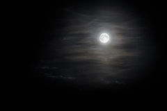 Maan in wolken Stock Fotografie