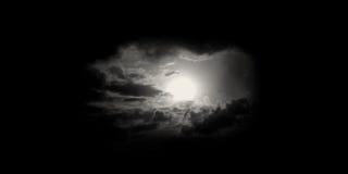 Maan of zon in hemel Stock Fotografie