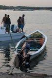 Mañana de pescadores Fotografía de archivo libre de regalías