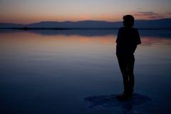Mañana del mar muerto Imágenes de archivo libres de regalías