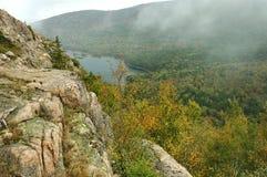 Mañana del otoño, Acadia Fotografía de archivo