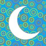 Maanachtergrond voor Moslim Communautair Festival Stock Afbeelding