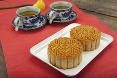 Maancake van het Vietnamese Chinese medio voedsel van het de herfstfestival Stock Afbeelding